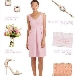 J. Crew Kami Classic Faille Dress Lavender Dust